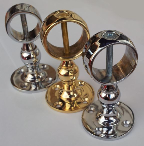 Chrome And Brass Stairs Rope Banister Handrail Brackets
