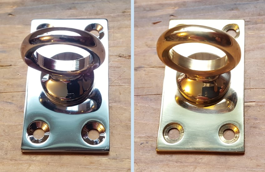 Chrome and Brass Endplates - Click Image to Close