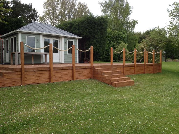 Customer photos rope and splice your rope project made easy for Garden decking with rope