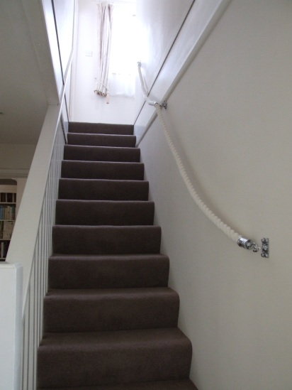 24mm Cotton Rope  Banister with Chrome Hooks and Bracket
